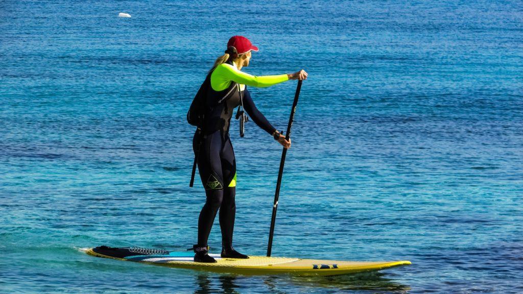 Paddle board paddle length
