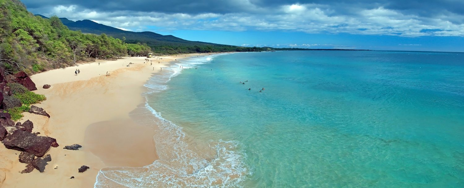 sup hawaii at makena beach