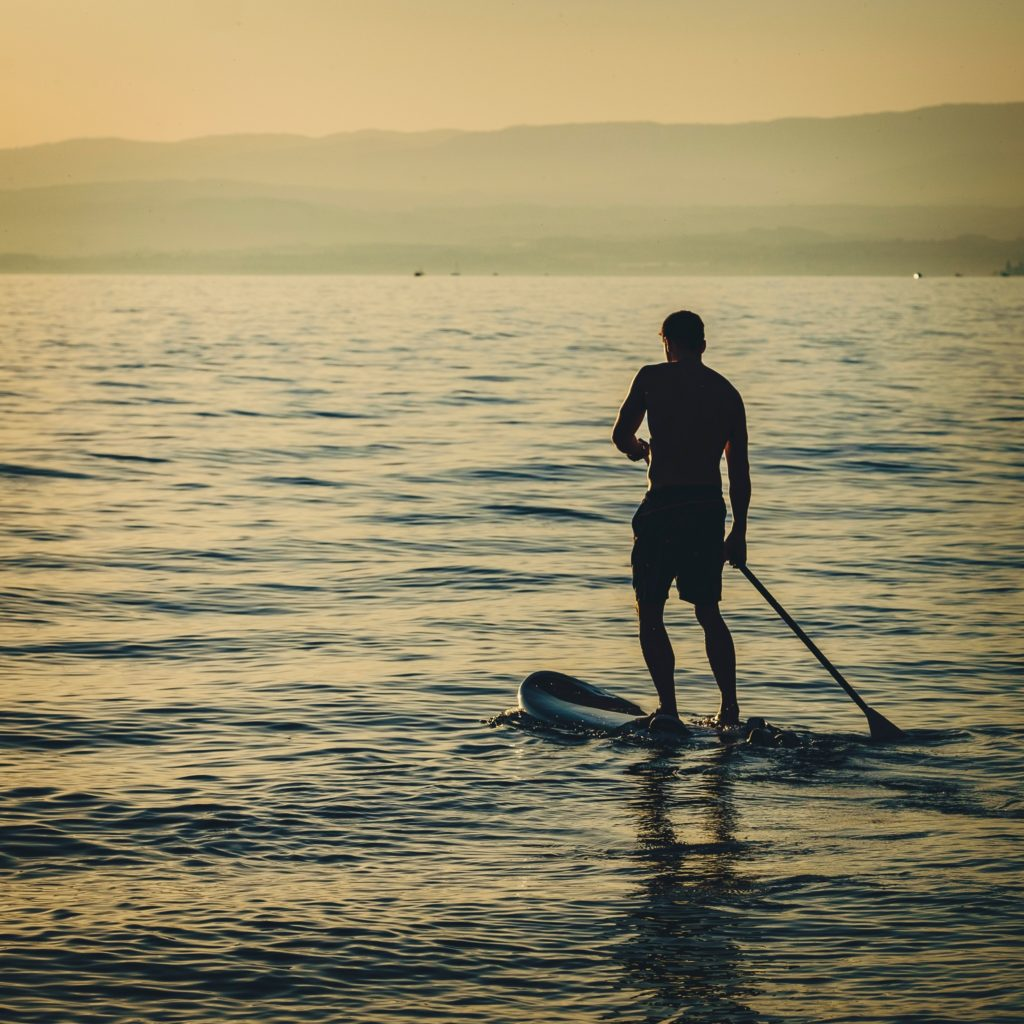 Paddle board is easy to use