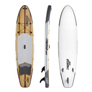 4.Thurso Surf Waterwalker Inflatable Board, 11' (32'' wide) for big guys and paddle board weight limit